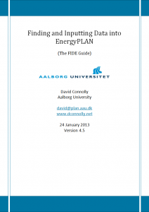 Finding and Inputting Data into EnergyPLAN
